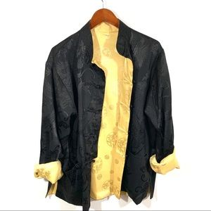 Vintage reversible silk dragon jacket with pockets